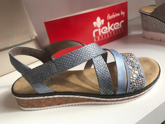 Remington Sky Wedge Sandal by Rieker
