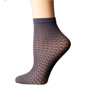 Wave Socks in Black by Wolford