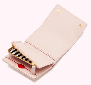 Leather Jodie Wallet in Blush by Lulu Guinness