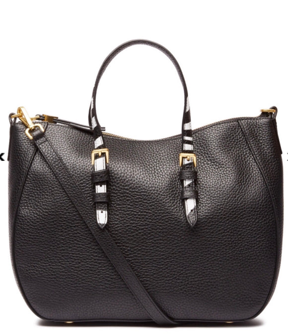 Medium Black JULIA with Reversible Handles by Lulu Guinness