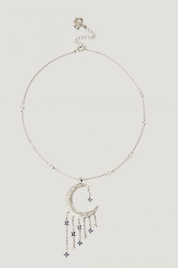 Half Moon with Stars Necklace by Butler & Wilson