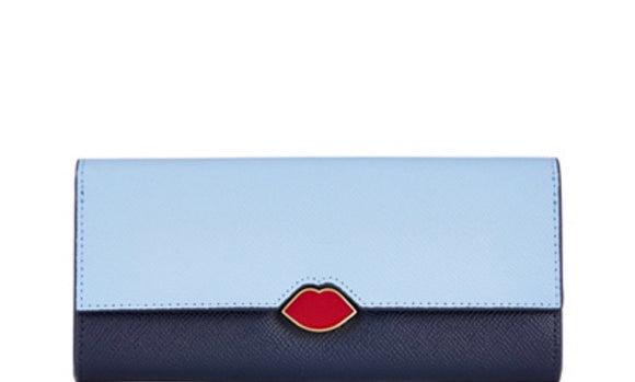 Cora Wallet in Sky and Navy by Lulu Guinness