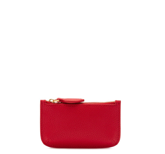 Pop Out Frankie Key Pouch in Red by Lulu Guinness