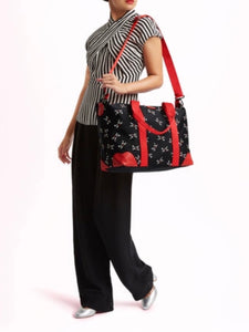 Kooky Cat Fiona Overnight Bag by Lulu Guinness
