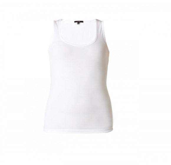 Yippie White Sleeveless Top by Yest