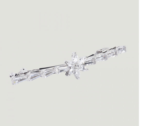 Crystal Star & Baguette Stones Hairclip by Butler & Wilson