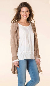 Latte Lace Cardigan