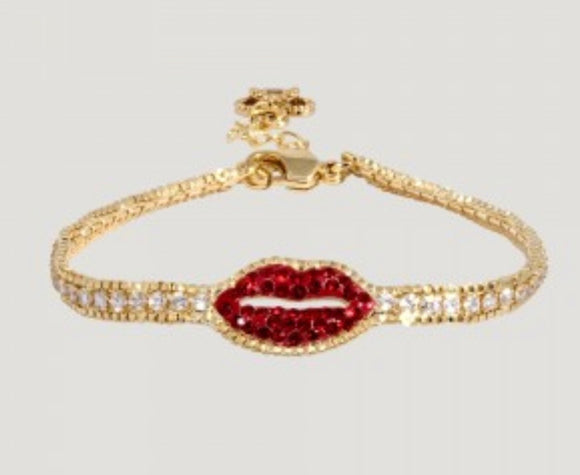 Crystal Lip Row Bracelet by Butler & Wilson