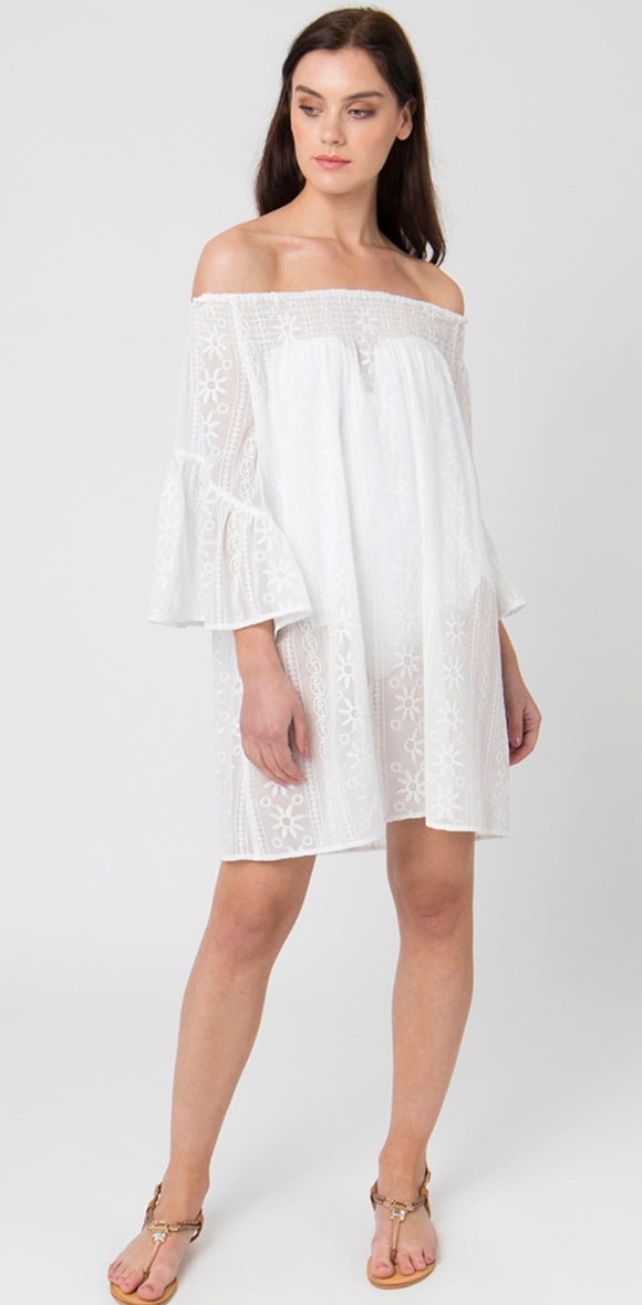 Baye Dress in White by Pia Rossini