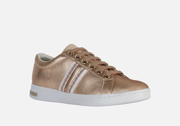 SS20 Jaysen Rose Gold/Skin Sneakers By Geox