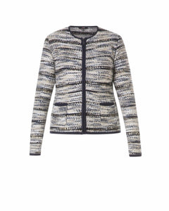 Gianno Cardigan in Ecru/Pebble Melange by Yest