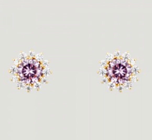 Crystal Flower Stud Earrings by Butler & Wilson