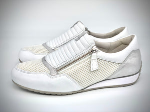 Lill White/Silver Sneakers by Gabor