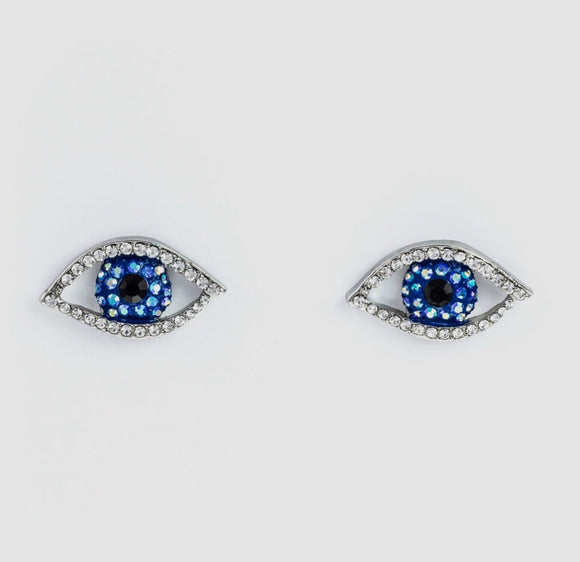 Crystal Eye Stud Earrings by Butler & Wilson