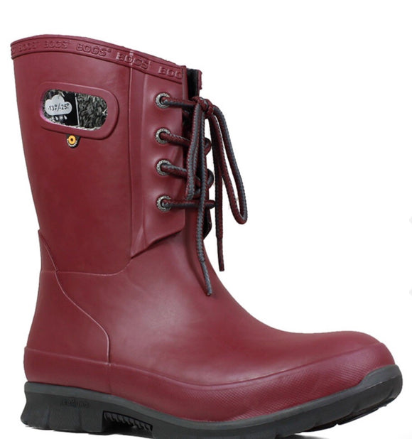 Amanda Plush Bogs in Burgundy