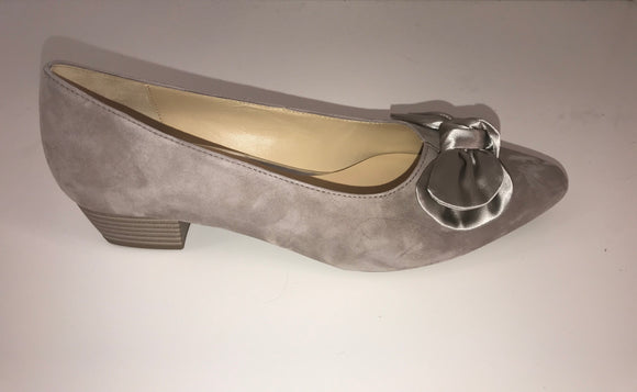 OCEANA Taupe Suede Pump by Gabor