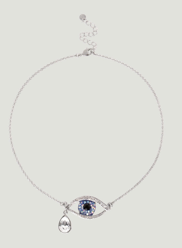 Crystal Eye with Teardrop Necklace by Butler & Wilson