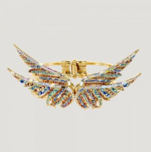 Crystal Double WIngs Pair Bangle by Butler & Wilson