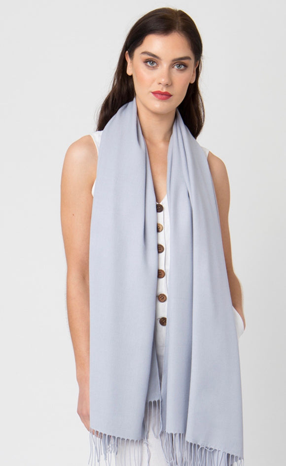 Pia Pashmina in Silver Grey