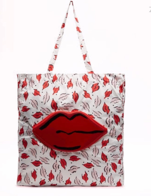 Beauty Spot Foldaway Shopper by Lulu Guinness