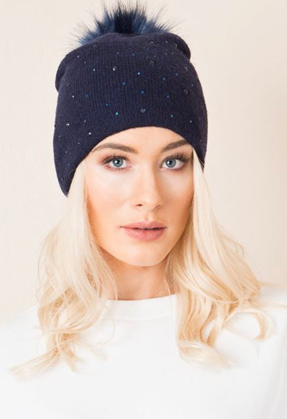 Charlotte Hat Navy By Pia Rossini