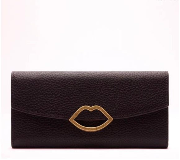 Half Covered Lip Trisha in Aubergine by Lulu Guinness