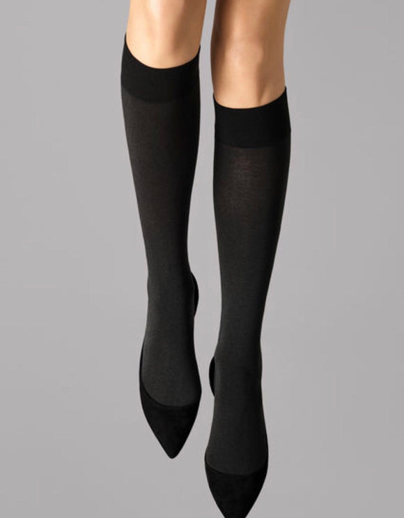 Cotton Velvet Knee High by Wolford