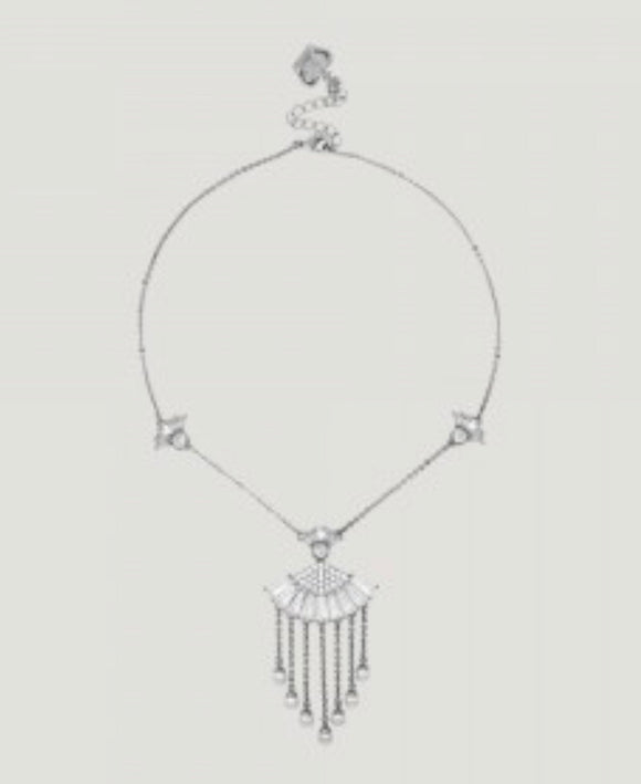 Crystal Fan Shape Necklace by Butler & Wilson