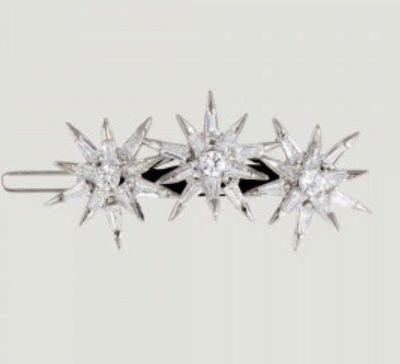 Three Crystal Stars Hairclip by Butler & Wilson