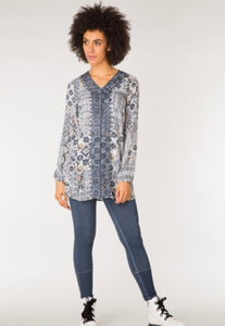 Gina Tunic in Ombre Blue/Multi by Yest