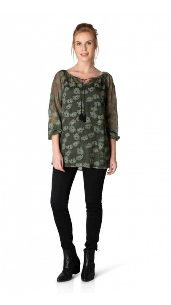 Grazia Olive Green Tunic by Yest