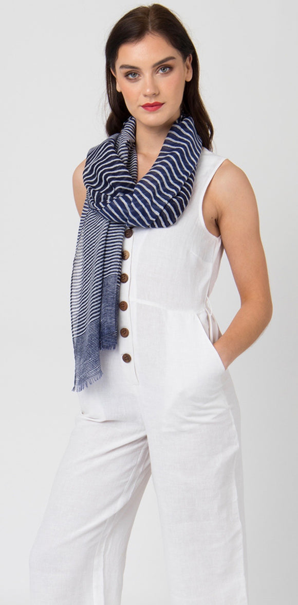 Alix Scarf in Blue by Pia Rossini