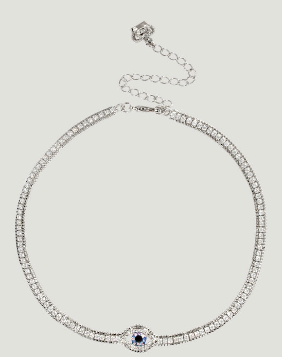 Crystal Eye Row Necklace by Butler & Wilson