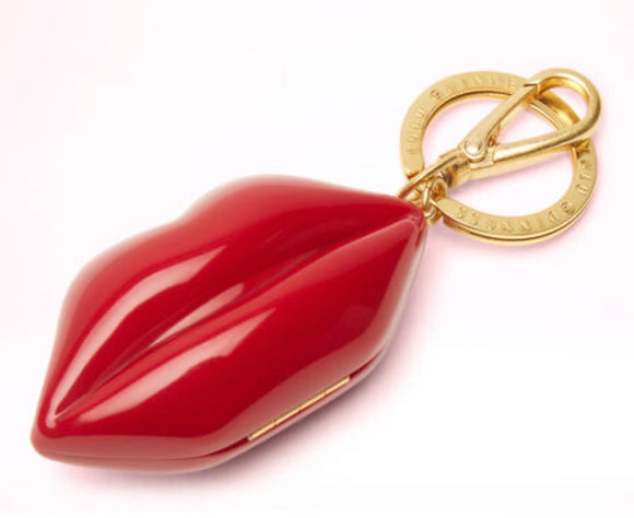 Mini Lip Keyring in Red by Lulu Guinness