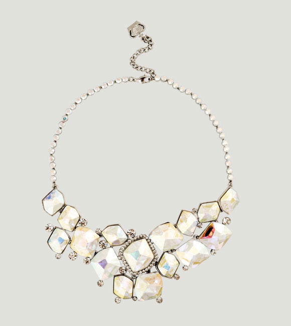 Clear Faceting Stone Chandelier Necklace by Butler & Wilson