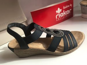 New York Sandal in Navy by Rieker