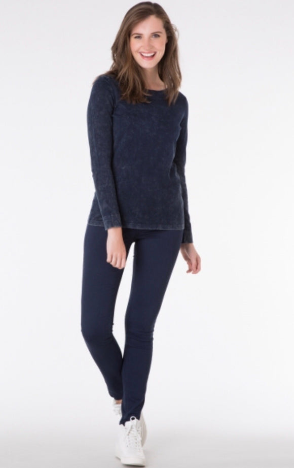Denim Blue Long Sleeved Top by Yest