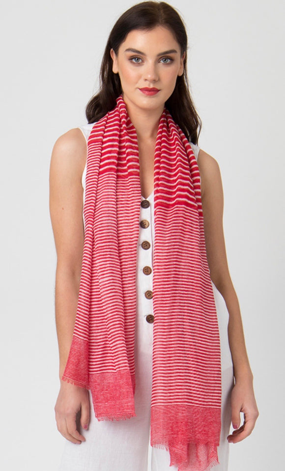 Alix Scarf in Red by Pia Rossini