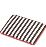 Cupids Bow Card Holder in Black/Chalk by Lulu Guinness