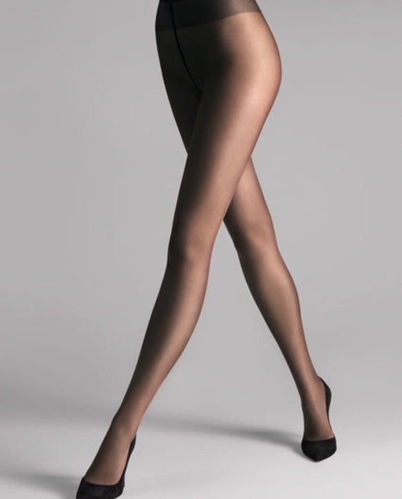 Sheer 15 Tights In Navy by Wolford