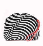 Optical Stripe Clover by Lulu Guinness