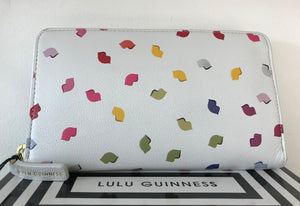Pale Grey/Multi CONTINENTAL Wallet by Lulu Guinness