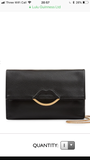 Half Covered Lip Izzy Black Medium by Lulu Guinness