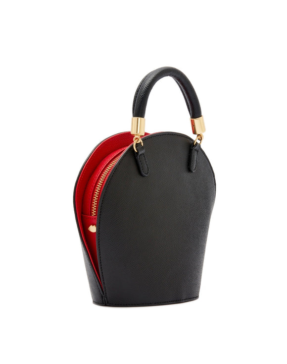 Mini Grain Willow Small in Black by Lulu Guinness