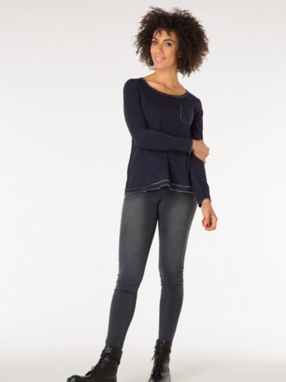 Star Blue Long Sleeved Top by Yest