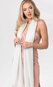 Gracelyn Scarf in White by Pia Rossini