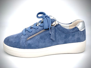 Mia Blue/Silver Sneakers by Gabor