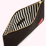 Heart Grace Pouch Medium in Black/red by Lulu Guinness