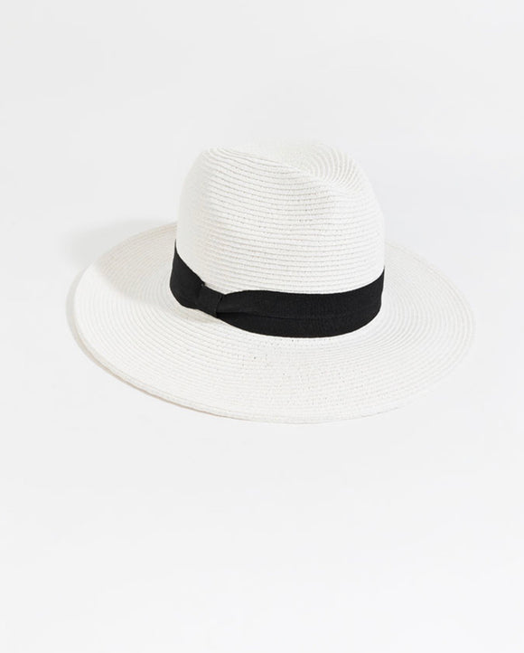 Tobago Hat in White by Pia Rossini