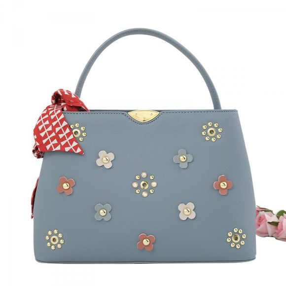 Silver Bag with floral design